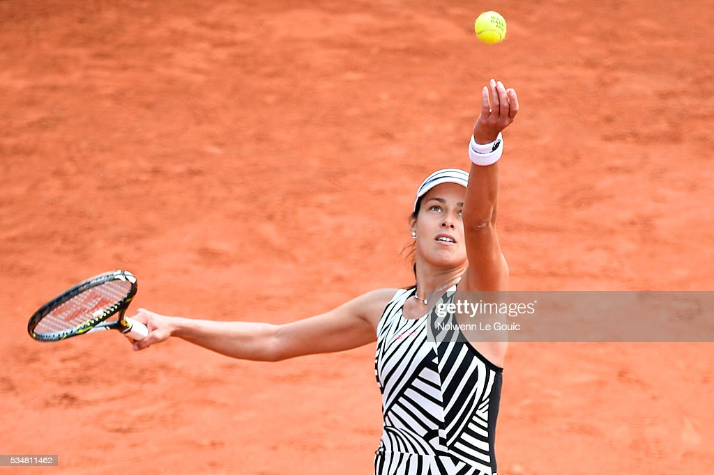Anna Ivanovic during the Women's Singles third round on day seven of the French Open 2016 on May 28, 2016 in Paris, France.