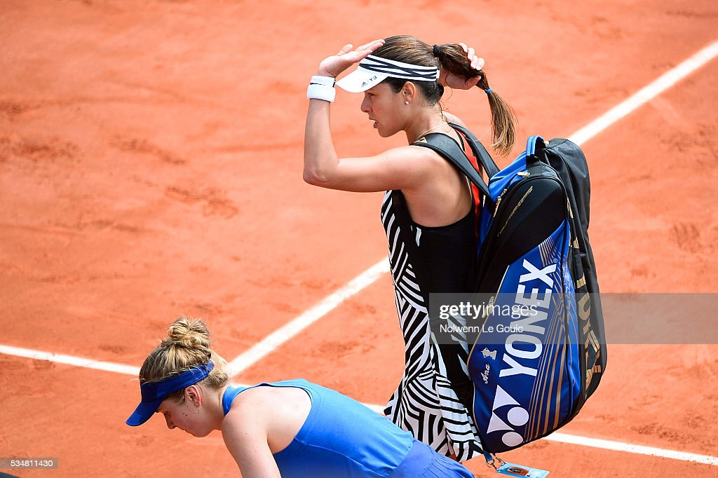 Anna Ivanovic looks dejected during the Women's Singles third round on day seven of the French Open 2016 on May 28, 2016 in Paris, France.