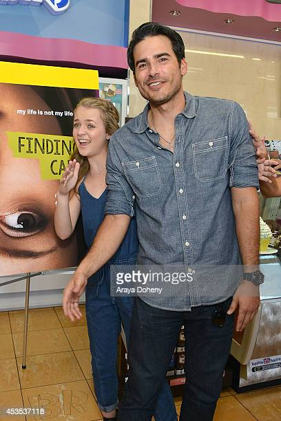 Anna JacobyHeron and Eddie Matos attend MTV's 'Finding Carter' fan event and to celebrate the twins Carter and Taylor's birthday at BaskinRobbins on...
