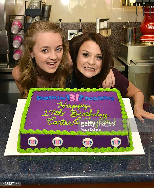 Anna JacobyHeron and Kathryn Prescott attend MTV's 'Finding Carter' fan event and to celebrate the twins Carter and Taylor's birthday at...