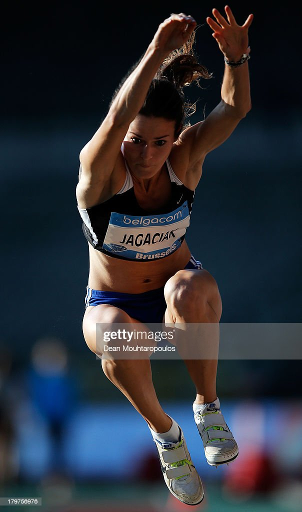 Anna Jagaciak of Poland competes in the Womens Triple Jump during the 2013 Belgacom Memorial Van Damme IAAF Diamond League meet at The King Baudouin Stadium on September 6, 2013 in Brussels, Belgium.