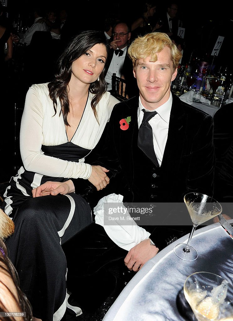 Anna James (L) and <a gi-track='captionPersonalityLinkClicked' href=/galleries/search?phrase=Benedict+Cumberbatch&family=editorial&specificpeople=2487879 ng-click='$event.stopPropagation()'>Benedict Cumberbatch</a> attend the Grey Goose Winter Ball to benefit the Elton John AIDS Foundation at Battersea Evolution on October 29, 2011 in London, England.