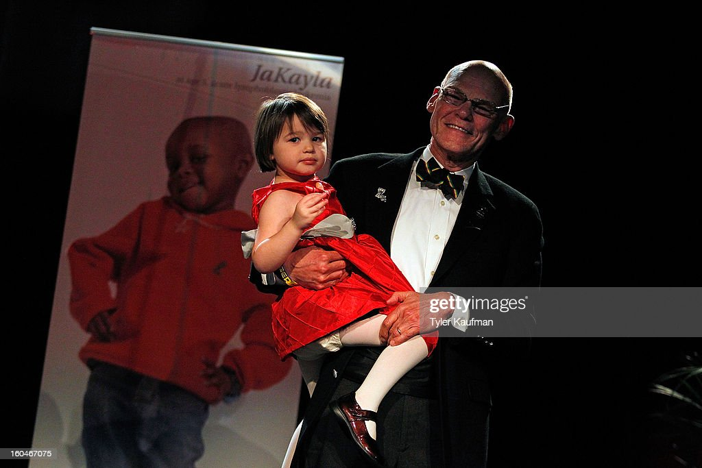 Anna James Bourgeois and <a gi-track='captionPersonalityLinkClicked' href=/galleries/search?phrase=James+Carville&family=editorial&specificpeople=213580 ng-click='$event.stopPropagation()'>James Carville</a> attend the 2013 Legends For Charity Dinner Honoring Archie Manning at the Hyatt Regency New Orleans on January 31, 2013 in New Orleans, Louisiana.