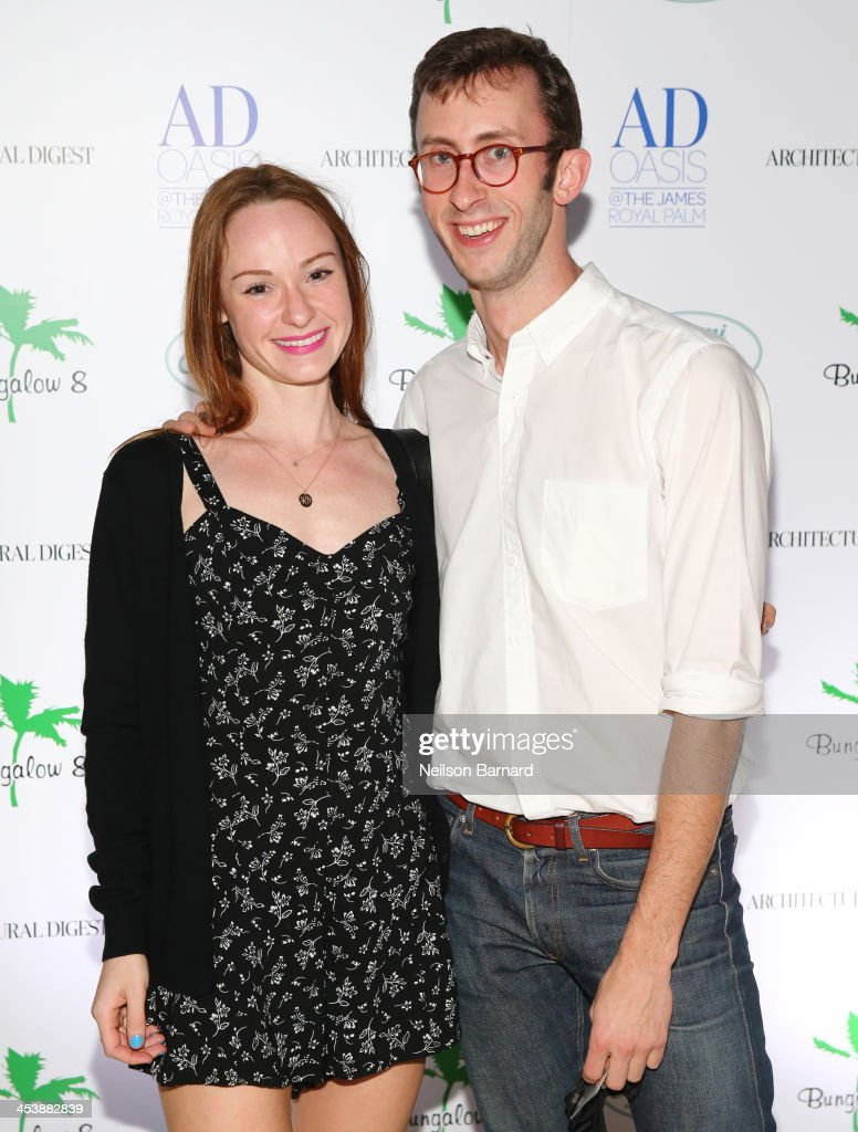 Anna Jane Davis and Sam Cochran attend AD Oasis And Amy Sacco Host Bungalow 8 Party at James Royal Palm Hotel on December 5, 2013 in Miami Beach, Florida.