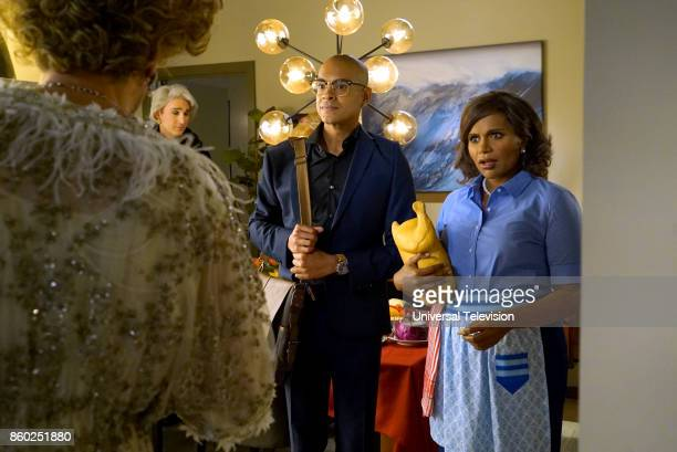 PROJECT 'Anna Jeremy's Meryl Streep Costume Party' Episode 605 Pictured Yassir Lester as David Mindy Kaling as Mindy Lahiri