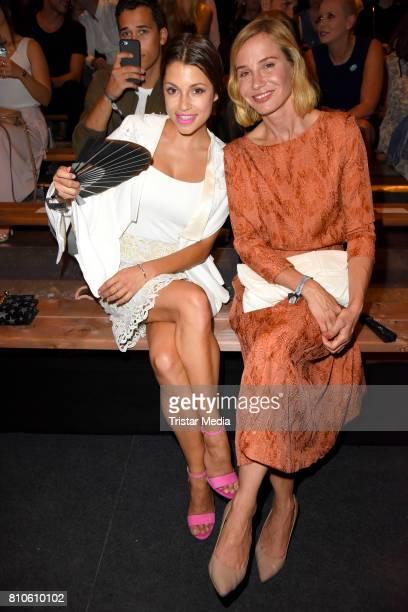 Anna Julia Kapfelsperger and Nadeshda Brennicke attend the MICHALSKY StyleNite during the MercedesBenz Fashion Week Berlin Spring/Summer 2018 at...