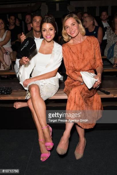 Anna Julia Kapfelsperger and Nadeshda Brennicke attends the MICHALSKY StyleNite during the MercedesBenz Fashion Week Berlin Spring/Summer 2018 at...