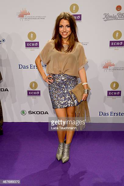 Anna Julia Kapfelsperger attends the Echo Award 2015 Red Carpet Arrivals on March 26 2015 in Berlin Germany