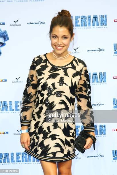Anna Julia Kapfelsperger attends the German premiere of the 'Valerian Die Stadt der Tausend Planeten' at CineStar on July 19 2017 in Berlin Germany