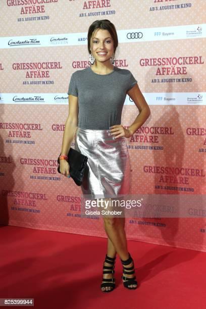 Anna Julia Kapfelsperger during the 'Griessnockerlaffaire' premiere at Mathaeser Filmpalast on August 1 2017 in Munich Germany