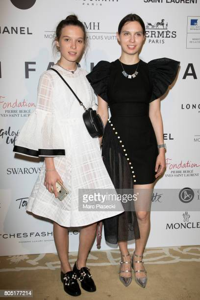 Anna K and Natalia Modenova attend the 'ANDAM 2017' Prizewinner cocktail at Ministere de la Culture on June 30 2017 in Paris France