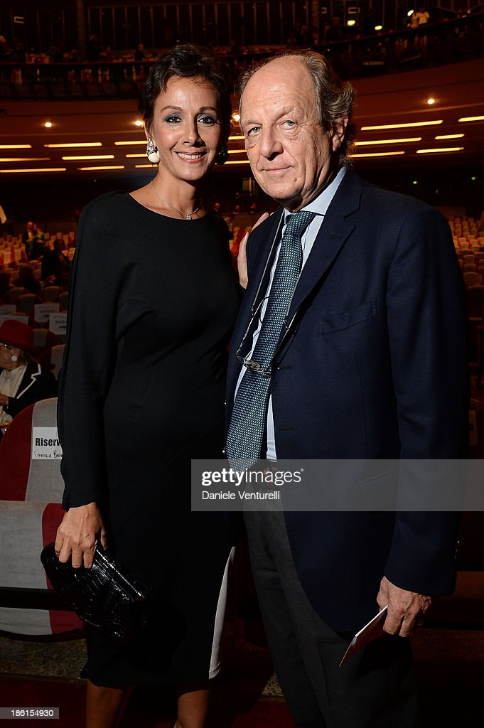 Anna Kanakis and Marco Merati Foschini attend 'Vorrei... 2013' Charity Event To Support Fondazione FFC at Teatro Sistina on October 28, 2013 in Rome, Italy.