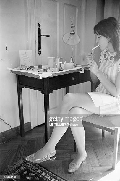 Anna Karina In Venice And In London Septembre 1967 l'actrice chanteuse et écrivaine danoise Anna KARINA s'apprête à tourner dans le film...