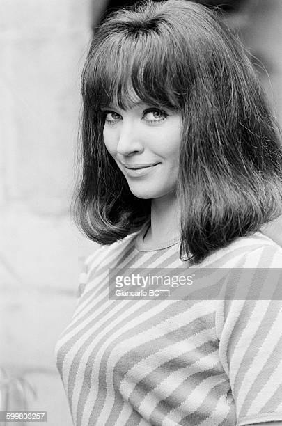 Anna Karina lors du tournage du film 'Made in Usa' réalisé par JeanLuc Godard en juillet 1966 en France