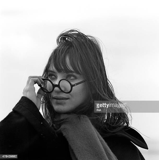 Anna Karina on the shooting of the television film ''Anna'' realized by Pierre Koralnik