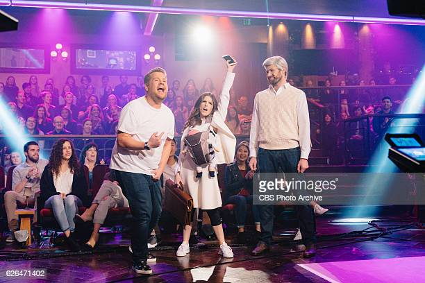 Anna Kendrick and Billy Eichner performs with James Corden during 'The Late Late Show with James Corden' Monday November 21 2016 On The CBS...