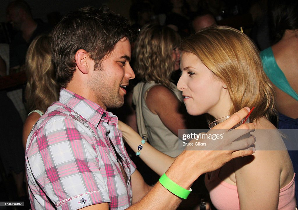 <a gi-track='captionPersonalityLinkClicked' href=/galleries/search?phrase=Anna+Kendrick&family=editorial&specificpeople=3244893 ng-click='$event.stopPropagation()'>Anna Kendrick</a> and Jeremy Jordan chat at the wrap party for the film 'The Last 5 Years' at T.G. Whitney's on July 18, 2013 in New York City.