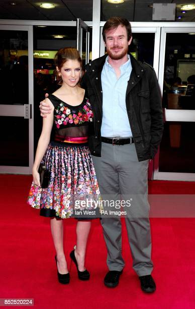 Anna Kendrick and Joe Swanberg arriving at the screening of new film Drinking Buddies at the Odeon West End cinema London