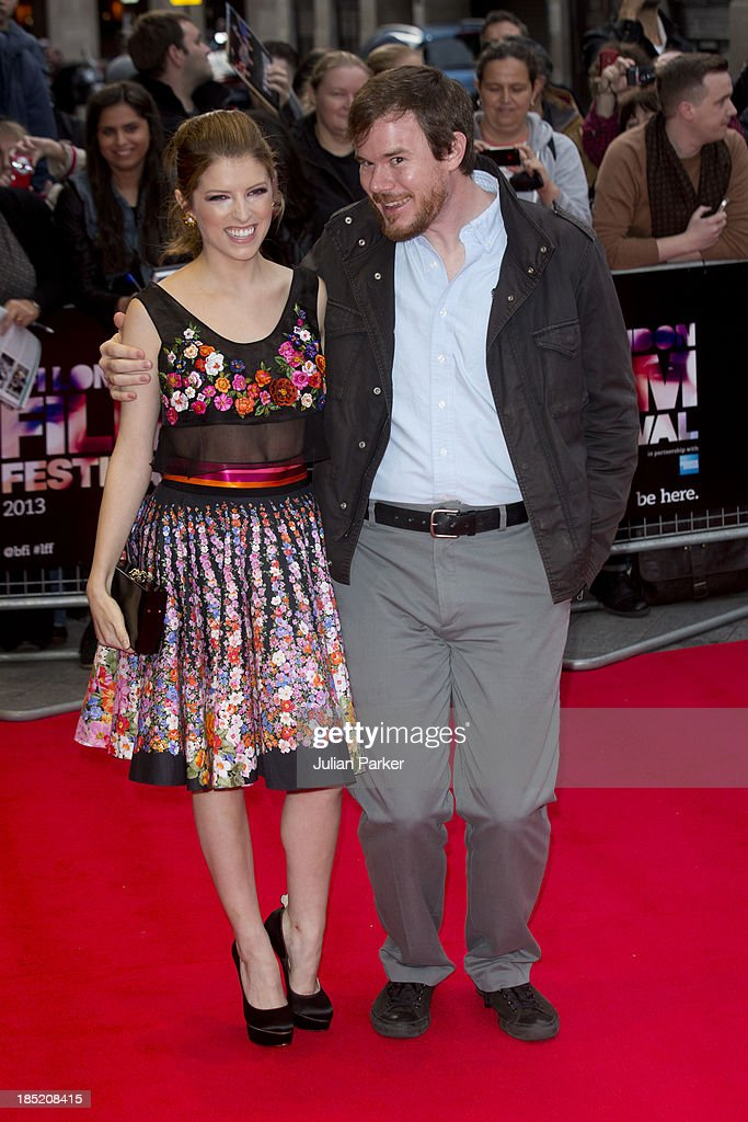 <a gi-track='captionPersonalityLinkClicked' href=/galleries/search?phrase=Anna+Kendrick&family=editorial&specificpeople=3244893 ng-click='$event.stopPropagation()'>Anna Kendrick</a> and Joe Swanberg ( Director ), attend a screening of 'Drinking Buddies' during the 57th BFI London Film Festival at Odeon West End on October 18, 2013 in London, England.