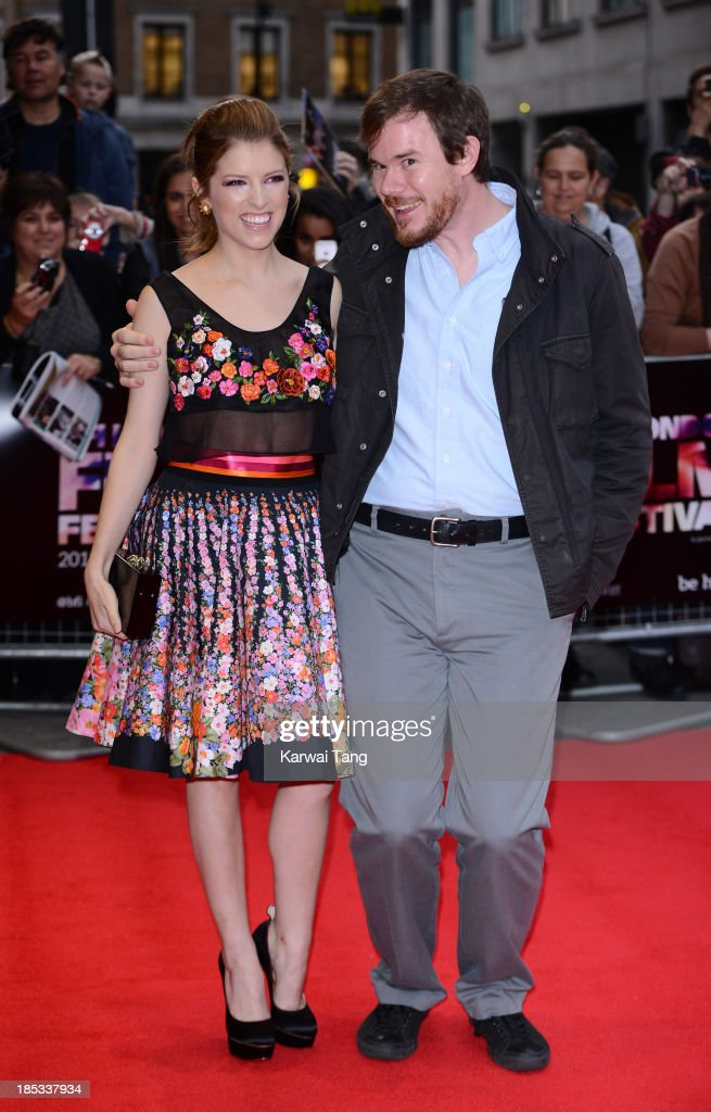 <a gi-track='captionPersonalityLinkClicked' href=/galleries/search?phrase=Anna+Kendrick&family=editorial&specificpeople=3244893 ng-click='$event.stopPropagation()'>Anna Kendrick</a> and Joe Swanberg attend a screening of 'Drinking Buddies' during the 57th BFI London Film Festival at the Odeon West End on October 18, 2013 in London, England.