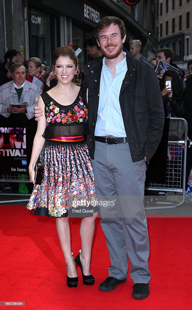 Anna Kendrick and Joe Swanberg attends a screening of 'Drinking Buddies' during the 57th BFI London Film Festival at Odeon West End on October 18, 2013 in London, England.