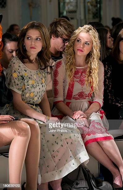 Anna Kendrick and MacKenzie Mauzy attend the Temperley London show during London Fashion Week SS14 at The Savoy Hotel on September 15 2013 in London...