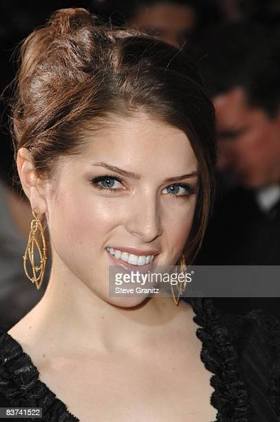 Anna Kendrick arrives at the Los Angeles premiere of 'Twilight' at the Mann Village and Bruin Theaters on November 17 2008 in Westwood California