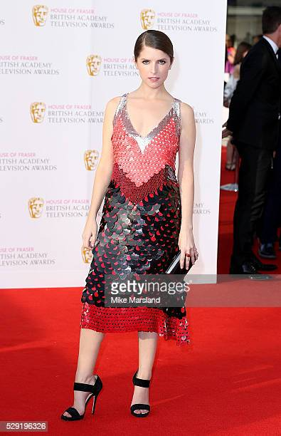 Anna Kendrick arrives for the House Of Fraser British Academy Television Awards 2016 at the Royal Festival Hall on May 8 2016 in London England