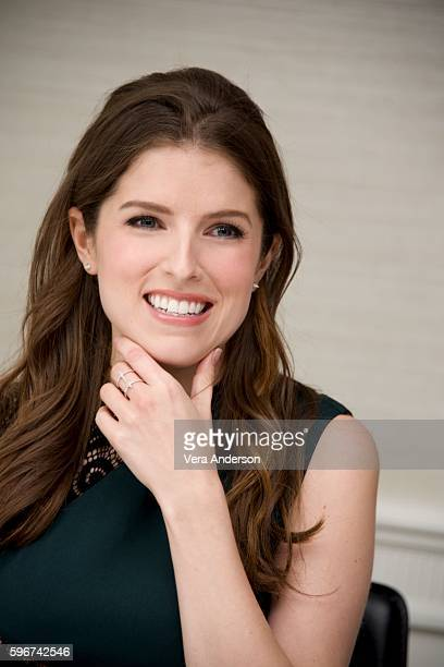 Anna Kendrick at the 'Trolls' Press Conference at the Four Seasons Hotel on August 27 2016 in Beverly Hills California