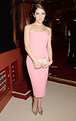 Anna Kendrick attends a drinks reception at the British Fashion Awards at the London Coliseum on December 1 2014 in London England