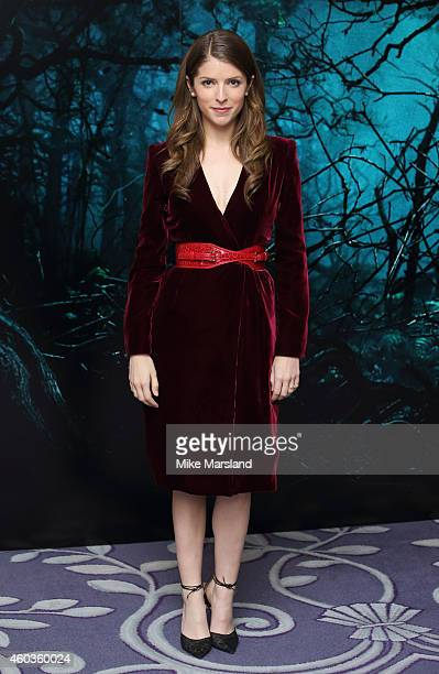 Anna Kendrick attends a photocall for 'Into The Woods' at Corinthia Hotel London on December 12 2014 in London England
