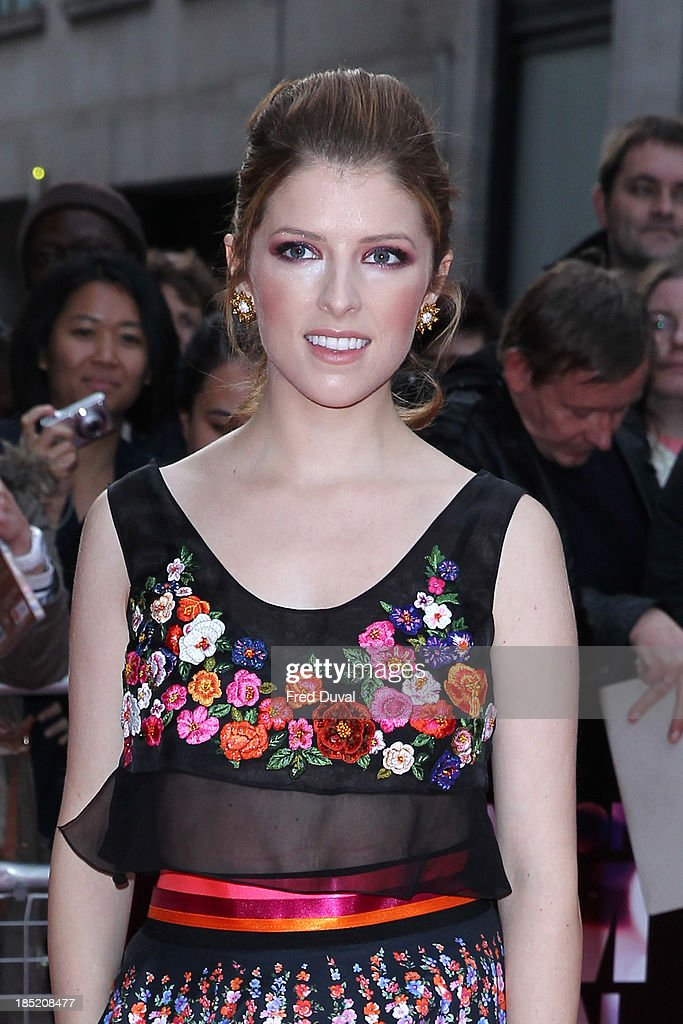 <a gi-track='captionPersonalityLinkClicked' href=/galleries/search?phrase=Anna+Kendrick&family=editorial&specificpeople=3244893 ng-click='$event.stopPropagation()'>Anna Kendrick</a> attends a screening of 'Drinking Buddies' during the 57th BFI London Film Festival at Odeon West End on October 18, 2013 in London, England.