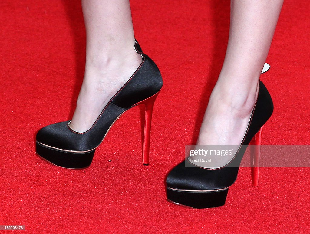 <a gi-track='captionPersonalityLinkClicked' href=/galleries/search?phrase=Anna+Kendrick&family=editorial&specificpeople=3244893 ng-click='$event.stopPropagation()'>Anna Kendrick</a> (shoe details) attends a screening of 'Drinking Buddies' during the 57th BFI London Film Festival at Odeon West End on October 18, 2013 in London, England.