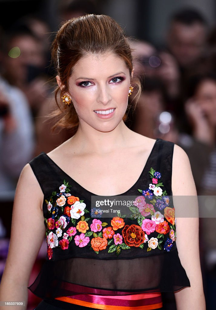 <a gi-track='captionPersonalityLinkClicked' href=/galleries/search?phrase=Anna+Kendrick&family=editorial&specificpeople=3244893 ng-click='$event.stopPropagation()'>Anna Kendrick</a> attends a screening of 'Drinking Buddies' during the 57th BFI London Film Festival at the Odeon West End on October 18, 2013 in London, England.