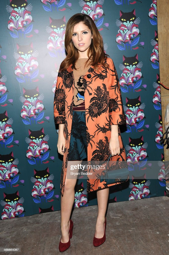 Anna Kendrick attends Miu Miu Women's Tales 7th Edition - 'Spark & Light' Screening - Arrivals at Diamond Horseshoe on February 11, 2014 in New York City.