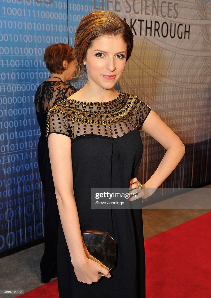 Anna Kendrick attends the 2014 Breakthrough Prize Inaugural Ceremony for Awards in Fundamental Physics and Life Sciences at NASA Ames Research Center on December 12, 2013 in Mountain View, California.