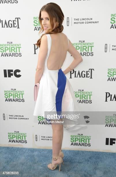 Anna Kendrick attends the 2014 Film Independent Spirit Awards at Santa Monica Beach on March 1 2014 in Santa Monica California