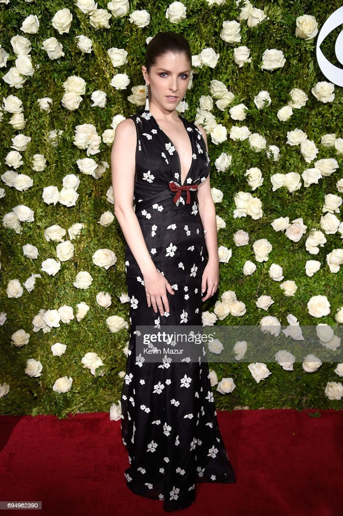 Anna Kendrick attends the 2017 Tony Awards at Radio City Music Hall on June 11, 2017 in New York City.
