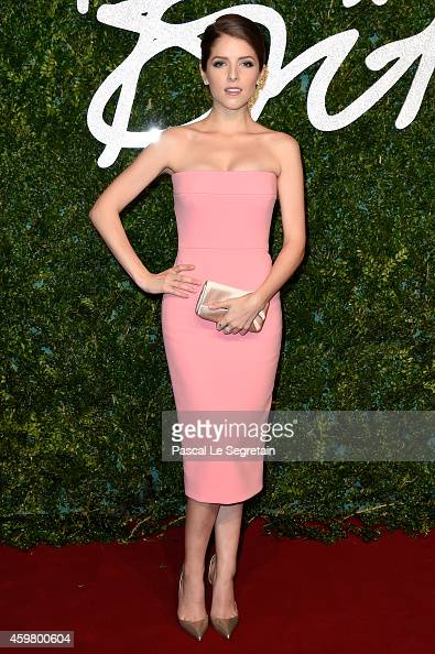 Anna Kendrick attends the British Fashion Awards at London Coliseum on December 1 2014 in London England