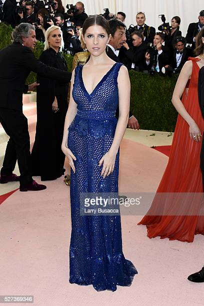Anna Kendrick attends the 'Manus x Machina Fashion In An Age Of Technology' Costume Institute Gala at Metropolitan Museum of Art on May 2 2016 in New...