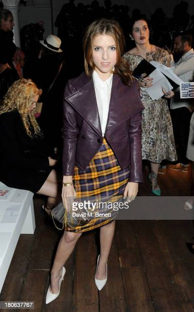 Anna Kendrick attends the Vivienne Westwood Red Label show during London Fashion Week SS14 on September 15 2013 in London England