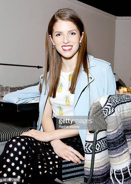 Anna Kendrick celebrates with NYLON for her February cover at Gracias Madre on January 21 2015 in West Hollywood California