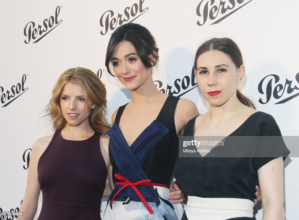 Anna Kendrick, Emmy Rossum and Zosia Mamet attend the 'Persol Magnificent Obsessions:30 Stories Of Craftsmanship In Film' Opening at Museum of the Moving Image on July 10, 2013 in the Queens borough of New York City.