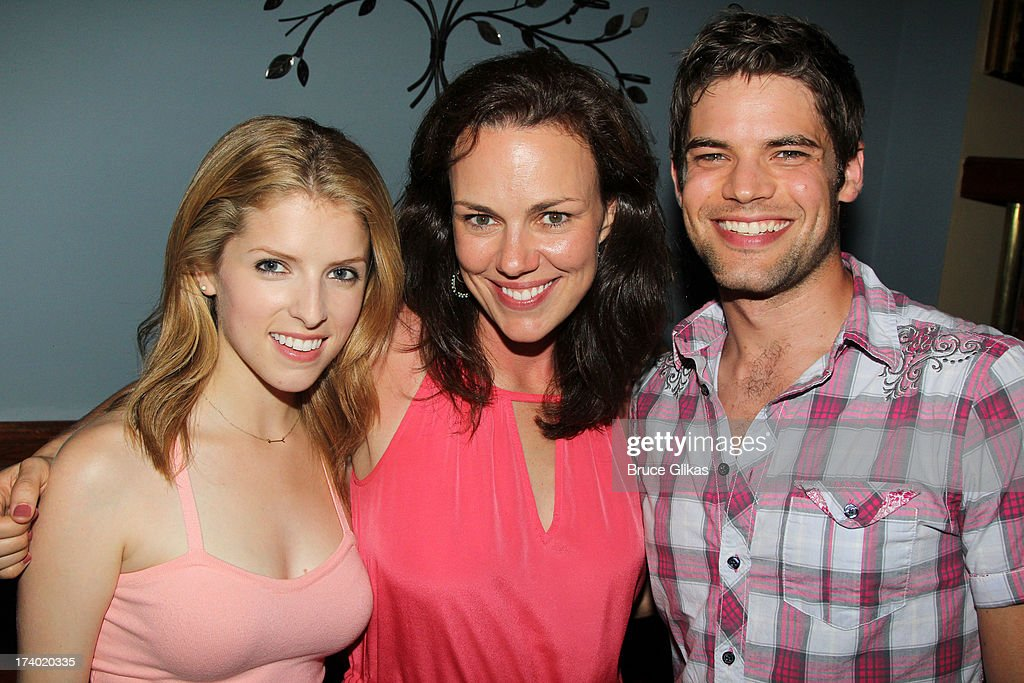 <a gi-track='captionPersonalityLinkClicked' href=/galleries/search?phrase=Anna+Kendrick&family=editorial&specificpeople=3244893 ng-click='$event.stopPropagation()'>Anna Kendrick</a>, Georgia Stitt and Jeremy Jordan pose at the wrap party for the film 'The Last 5 Years' at T.G. Whitney's on July 18, 2013 in New York City.