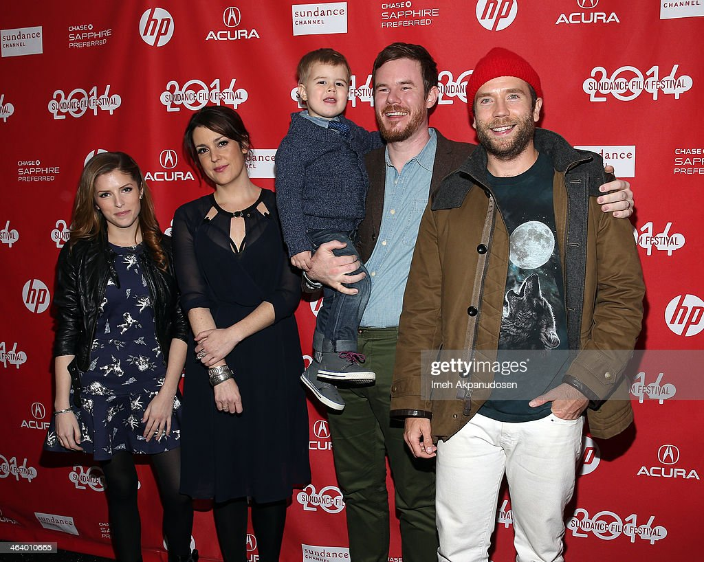 Anna Kendrick, Melanie Lynskey, Joe Swanberg and Mark Webber attend the 'Happy Christmas' premiere at Library Center Theater during the 2014 Sundance Film Festival on January 19, 2014 in Park City, Utah.