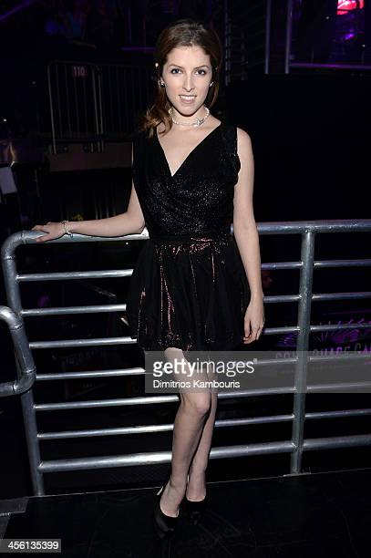 Anna Kendrick poses backstage at Z100's Jingle Ball 2013 presented by Aeropostale at Madison Square Garden on December 13 2013 in New York City