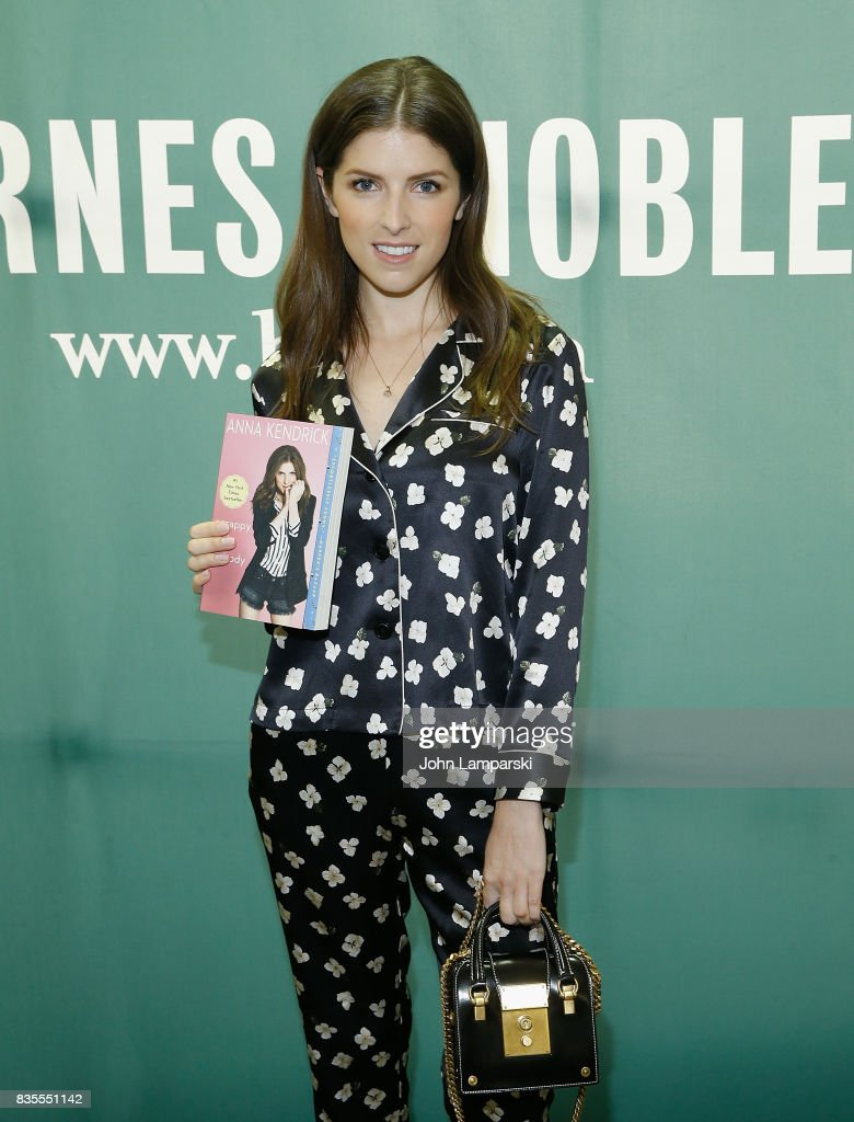 Anna Kendrick poses during the signing copies of her book 'Scrappy Little Nobody' at Barnes & Noble Union Square on August 19, 2017 in New York City.