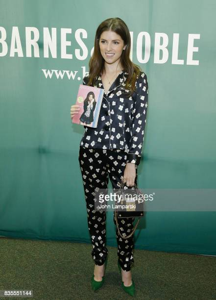 Anna Kendrick poses during the signing copies of her book 'Scrappy Little Nobody' at Barnes Noble Union Square on August 19 2017 in New York City