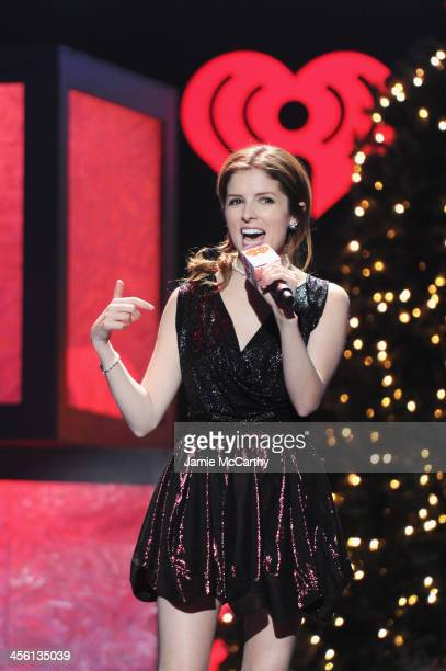 Anna Kendrick speaks onstage during Z100's Jingle Ball 2013 presented by Aeropostale at Madison Square Garden on December 13 2013 in New York City