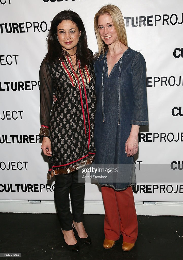 Anna Khaja and Hogan Gorman attend 'Shaheed: The Dream And Death Of Benazir Bhutto' Off Broadway Opening Night at Culture Project on March 14, 2013 in New York City.